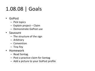 1.08.08 | Goals