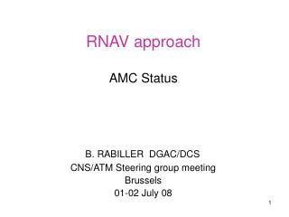 RNAV approach AMC Status