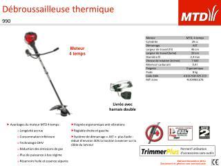 Débroussailleuse thermique 990
