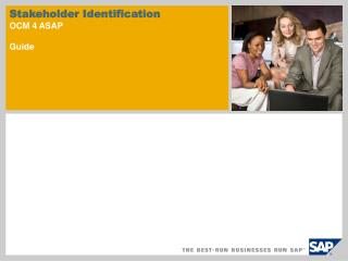 Stakeholder Identification OCM 4 ASAP Guide
