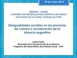 REDIFAM - CELAM CONGRESO DE INVESTIGACION CIENTIFICA EN FAMILIA