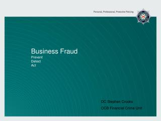 Business Fraud Prevent Detect Act