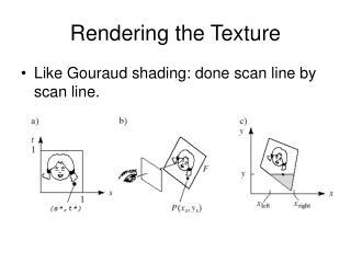 Rendering the Texture