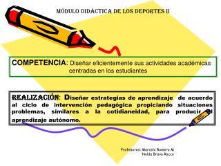 MÓDULO DIDÁCTICA DE LOS DEPORTES II