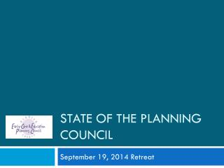 State of the Planning Council