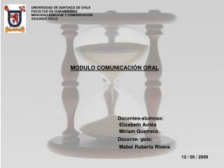 MODULO COMUNICACIÓN ORAL