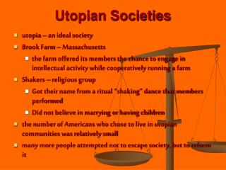 Utopian Societies