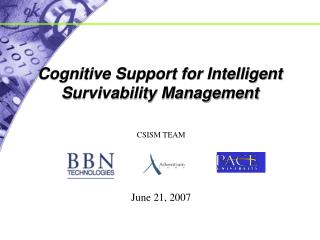 Cognitive Support for Intelligent Survivability Management