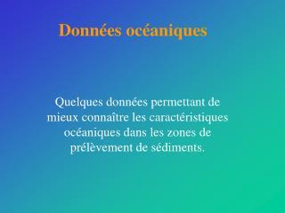 Données océaniques
