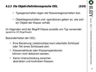 6.2.3  Die Objekt-Definitionssprache ODL (3/24)