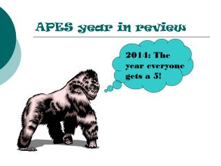 APES year in review
