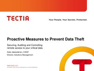 Proactive Measures to Prevent Data Theft