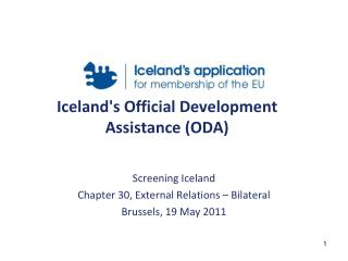 Iceland's Official Development Assistance (ODA)