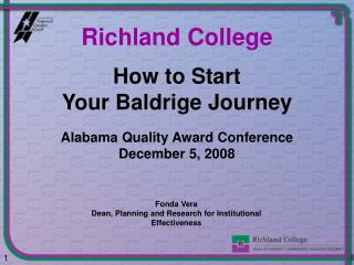 How to Start  Your Baldrige Journey