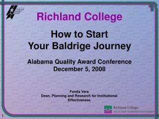 How to Start  Your Baldrige Journey
