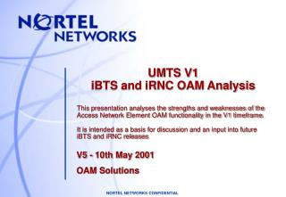 V5 - 10th May 2001 OAM Solutions