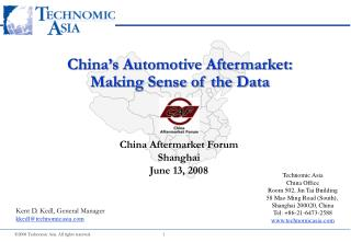 2008 Technomic Asia. All rights reserved.