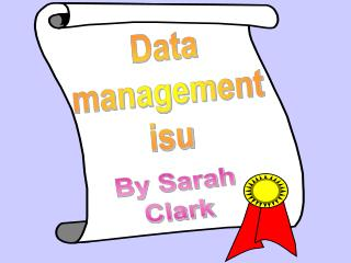 Data management isu