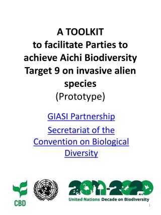 GIASI Partnership Secretariat of the Convention on Biological Diversity