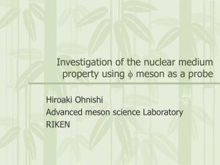 Investigation of the nuclear medium property using  f  meson as a probe