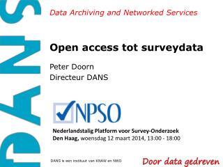 Open access tot surveydata