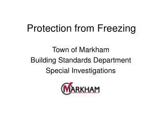 Protection from Freezing