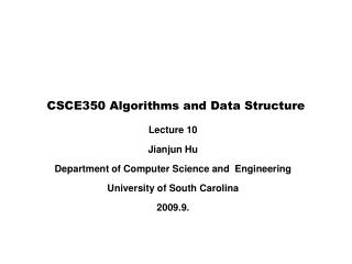 CSCE350 Algorithms and Data Structure