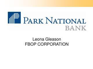 Leona Gleason FBOP CORPORATION