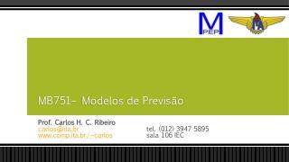 MB751� Modelos de Previs�o