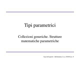 Tipi parametrici