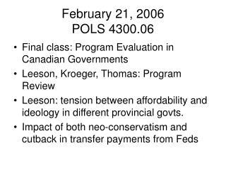 February 21, 2006 POLS 4300.06