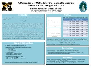 A Comparison of Methods for Calculating Montgomery Streamfunction Using Modern Data