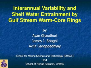 Interannual Variability and Shelf Water Entrainment by Gulf Stream Warm-Core Rings