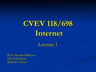 CVEV 118/698 Internet