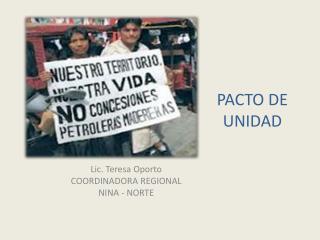 PACTO DE UNIDAD