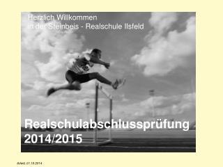 Realschulabschlussprüfung 2014/2015