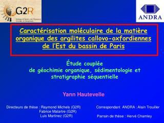 Étude couplée de géochimie organique, sédimentologie et stratigraphie séquentielle