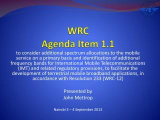 WRC Agenda Item 1.1
