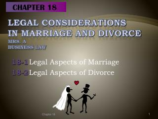Legal Considerations  in Marriage and Divorce Mrs. A Business Law