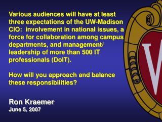Ron Kraemer June 5, 2007