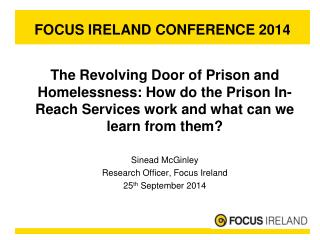 FOCUS IRELAND CONFERENCE 2014