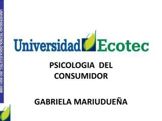 PSICOLOGIA  DEL CONSUMIDOR GABRIELA MARIUDUEÑA