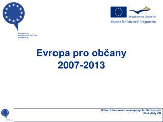 Evropa pro občany 2007-2013