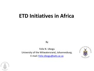 ETD Initiatives in Africa
