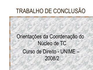 TRABALHO DE CONCLUSÃO