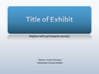 Title of Exhibit