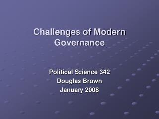 Challenges of Modern Governance