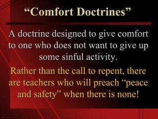 �Comfort Doctrines�