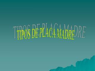 TIPOS DE PLACA MADRE