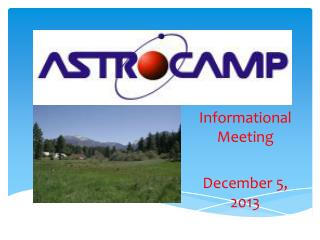 Informational Meeting December 5, 2013